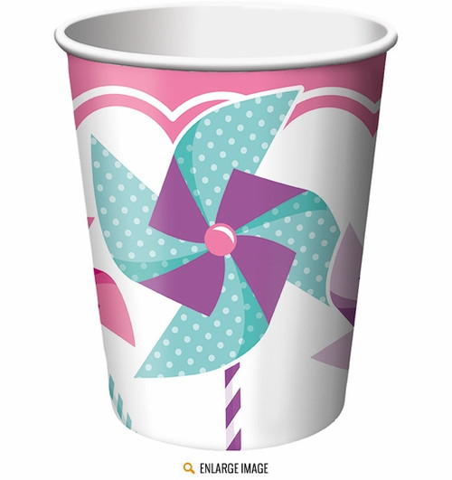 1st Birthday Turning One Girl Cups (8)