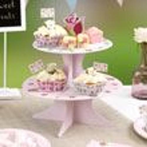 Vintage rose 2 tier Cake stand