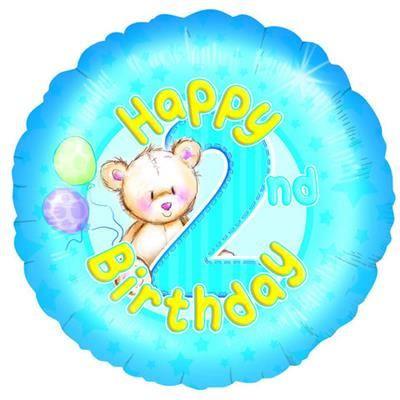 Happy 2nd Birthday Foil Balloon
