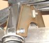 Severe-Duty Rear Shock Brace, viewed from front/side (above muffler)