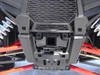 Front Hitch, Installed, Viewed from Front (older PZ2507 hitch shown to illustrate the hitch installed on the RZR, actual PZ2508 hitch shown in studio photo)