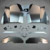 Thunderhawk RZR Inner Fender Guard Kit, Bare Aluminum