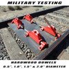 "Thunderhawk passes military testing.  Hardwood dowels up to 2"" diameter to duplicate actual trail debris."