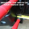 Measuring Radius Rod Width