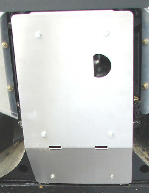 Front Skid Plate - installed, viewed from below
