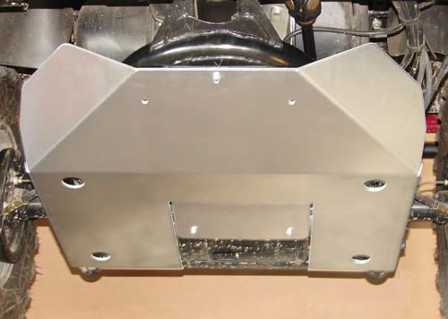 Rear Skid Plate, installed, viewed from front/below