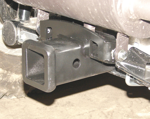 "Rear 2"" receiver Hitch, installed, viewed from side/rear"