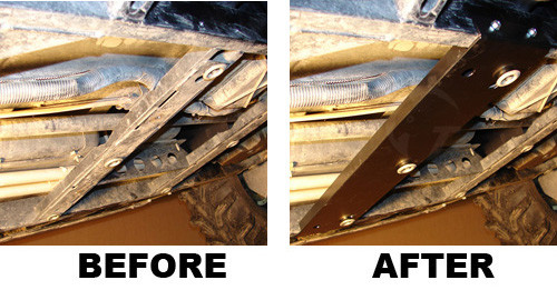 Before and After, Skid-Max Crossmember (skid plate removed for photo)