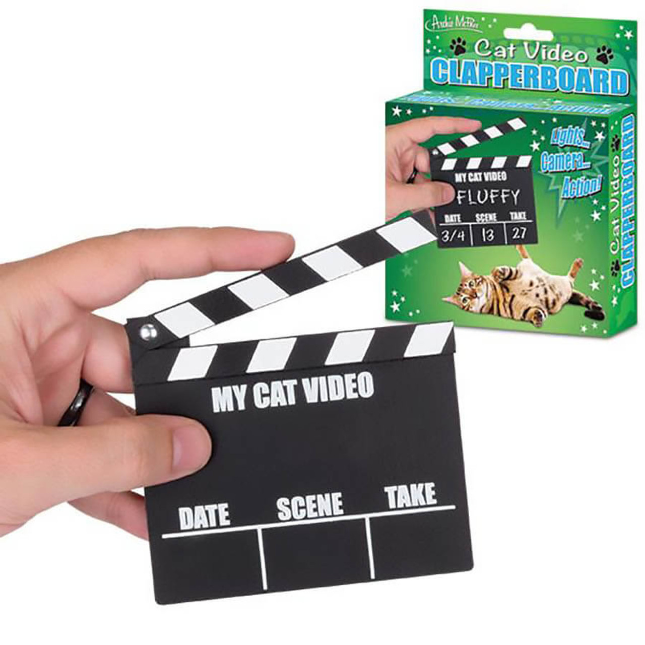 CAT VIDEO CLAPPERBOARD