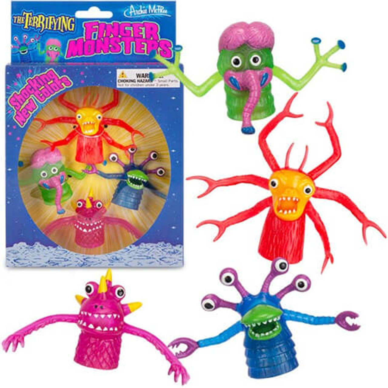 DELUXE FINGER MONSTERS BOXED SET OF 4