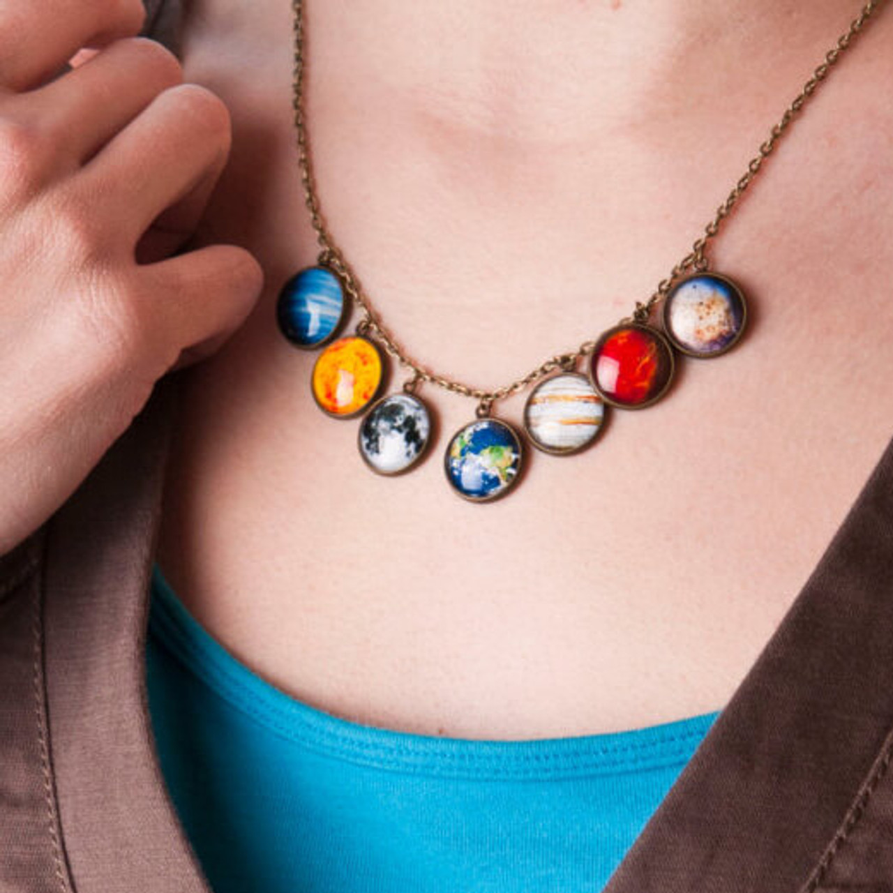 PLANETS PENDANT NECKLACE