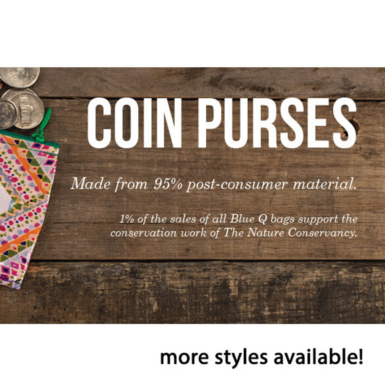 BIG BUCKS COIN RECYCLED PURSE