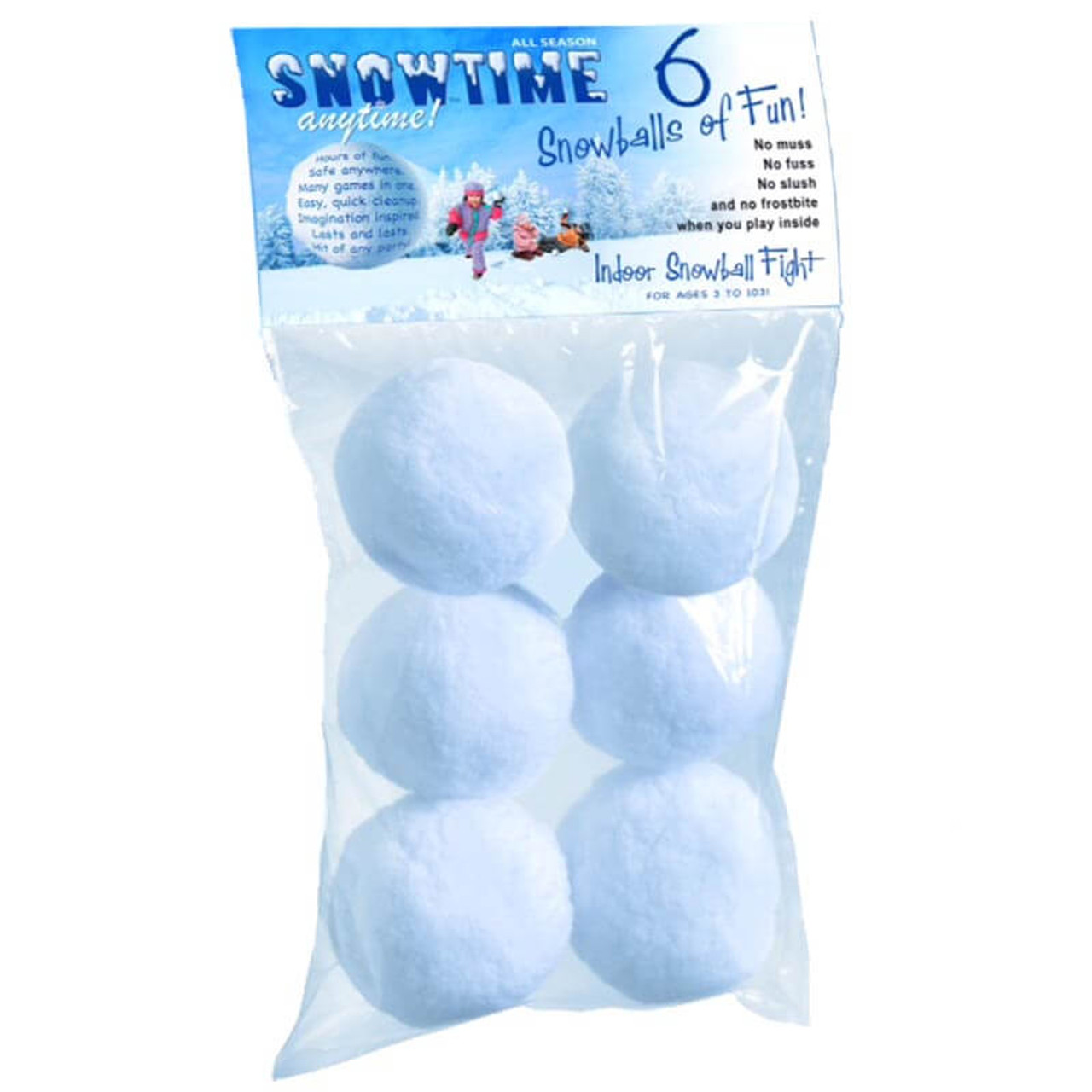 SNOWTIME ANYTIME INDOOR SNOWBALLS