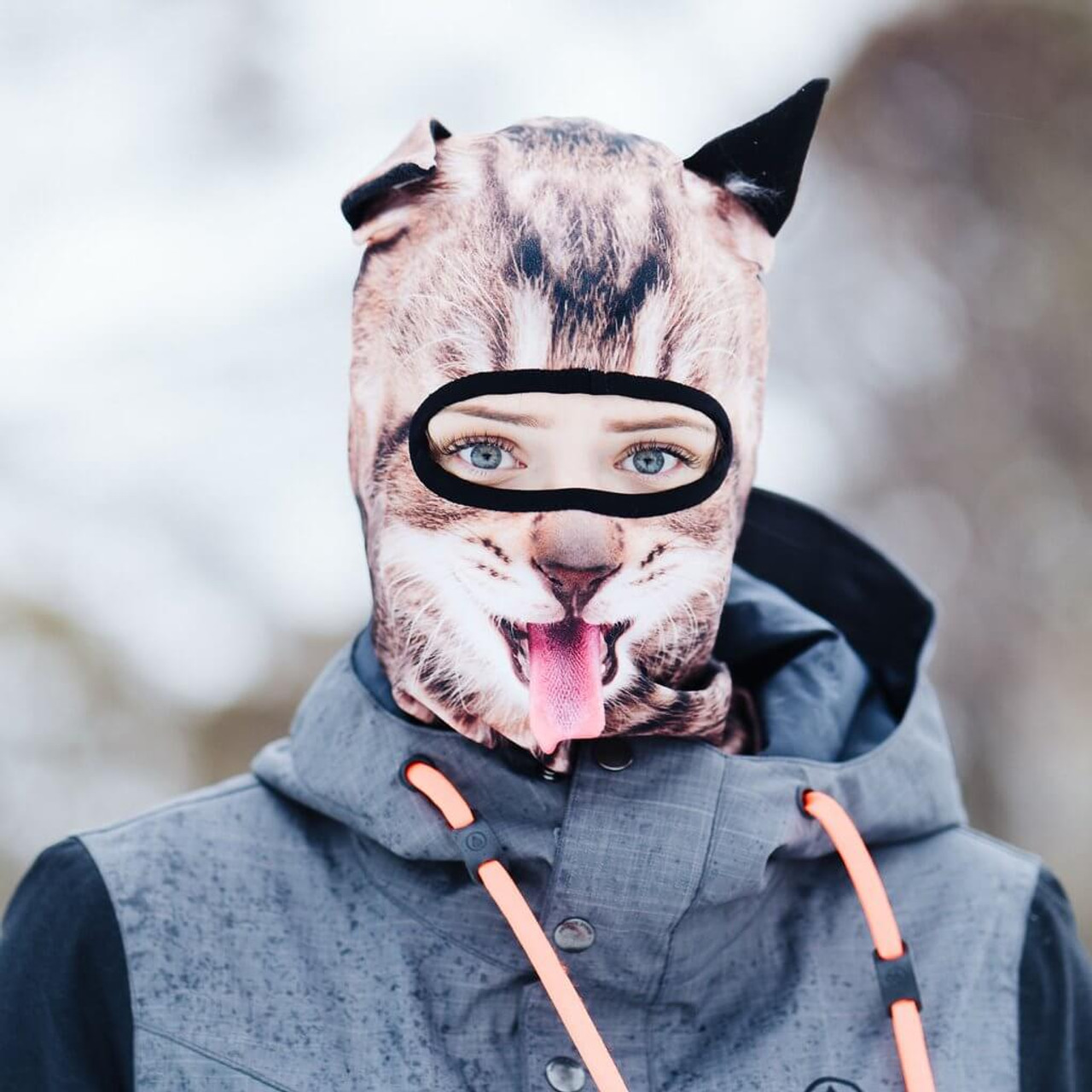 BEARDO FRISKY FELINE WINTER SNOW MASK
