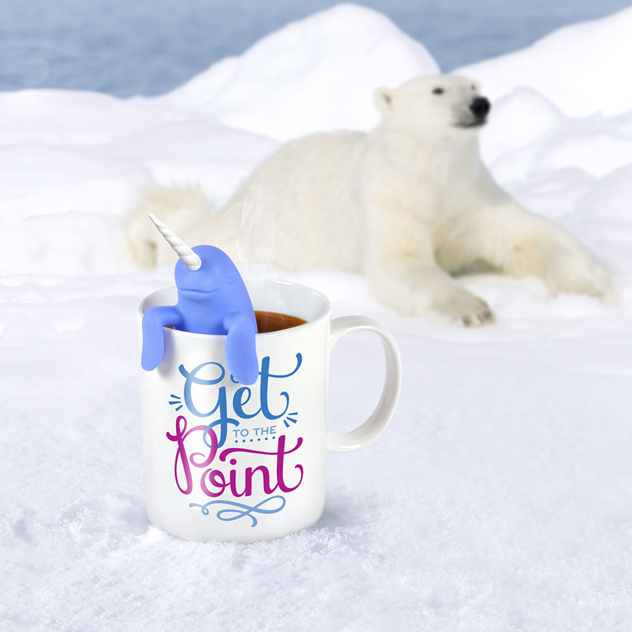 TWO FOR TEA NARWHAL TEA INFUSER + MUG