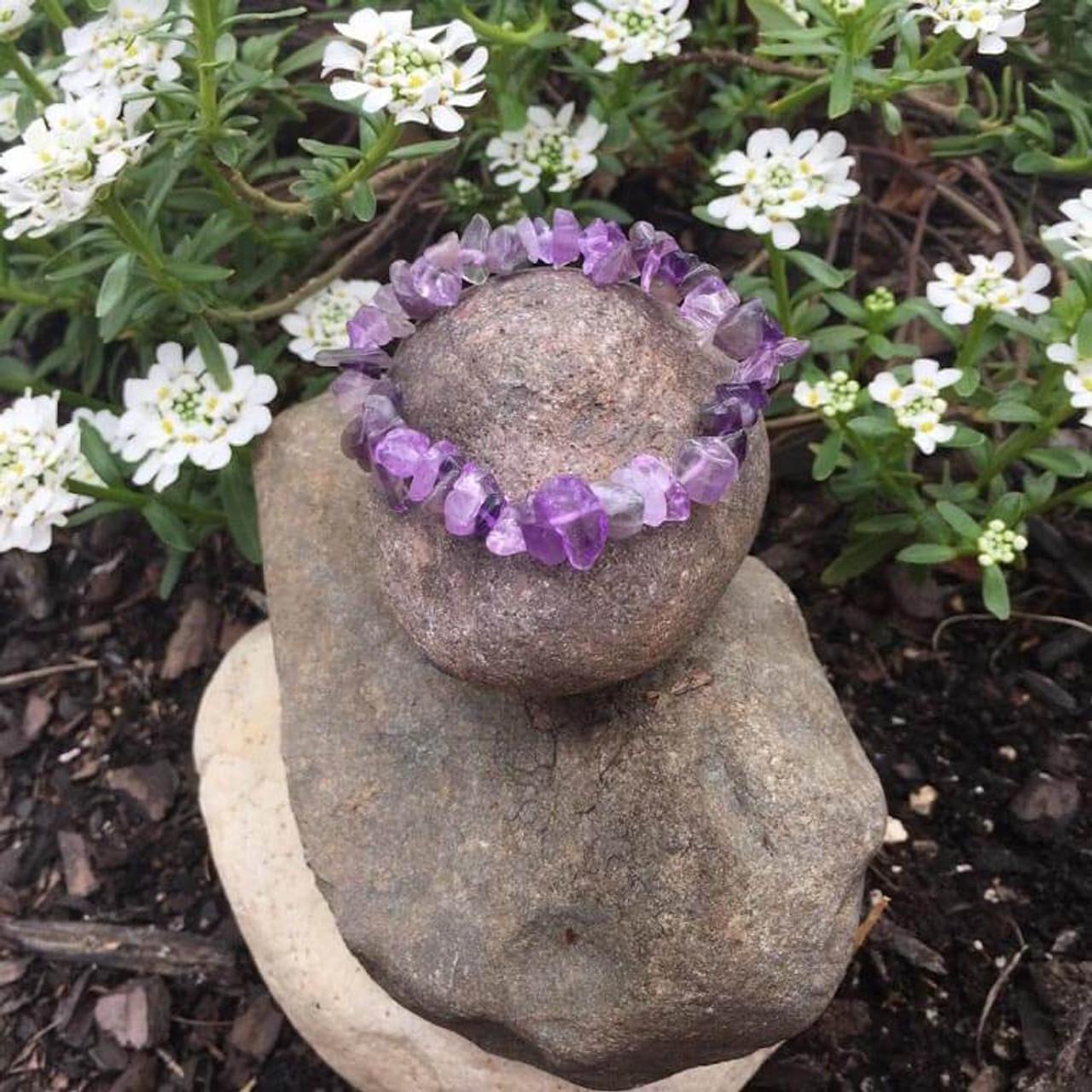 Genuine Amethyst Calming Crystal Bracelet