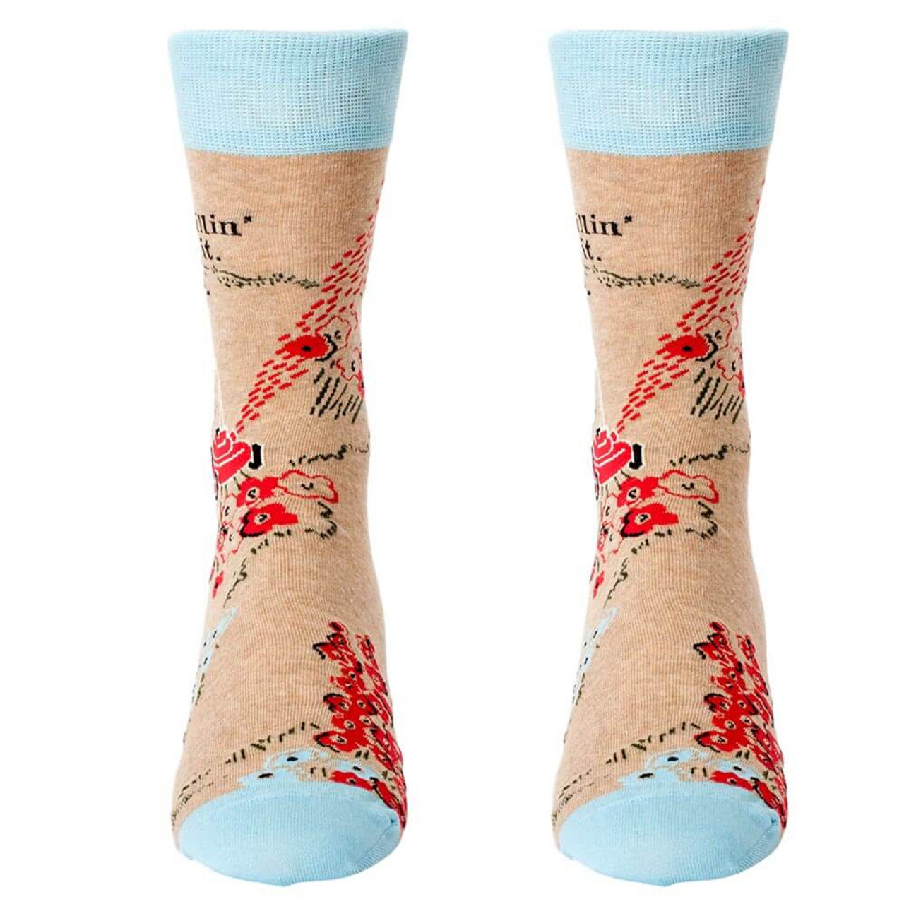 Killin' It Men's Blue Q Socks
