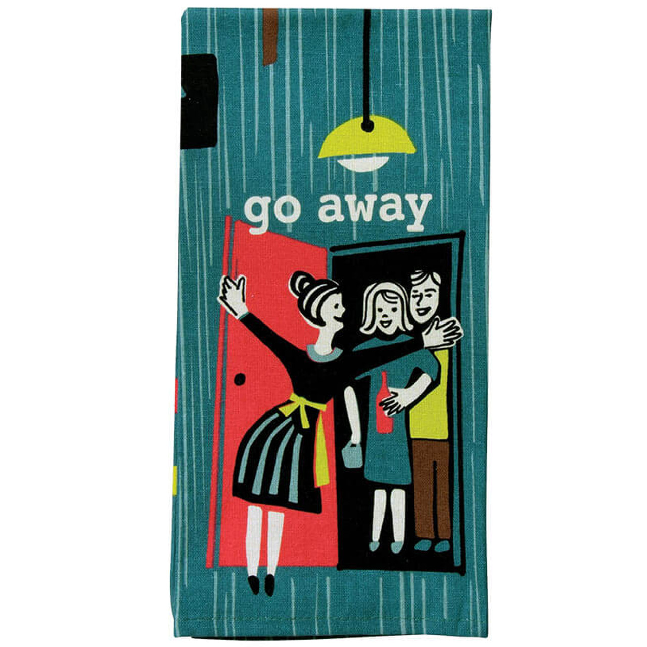 BlueQ Go Away Retro Hostess Dish Towel