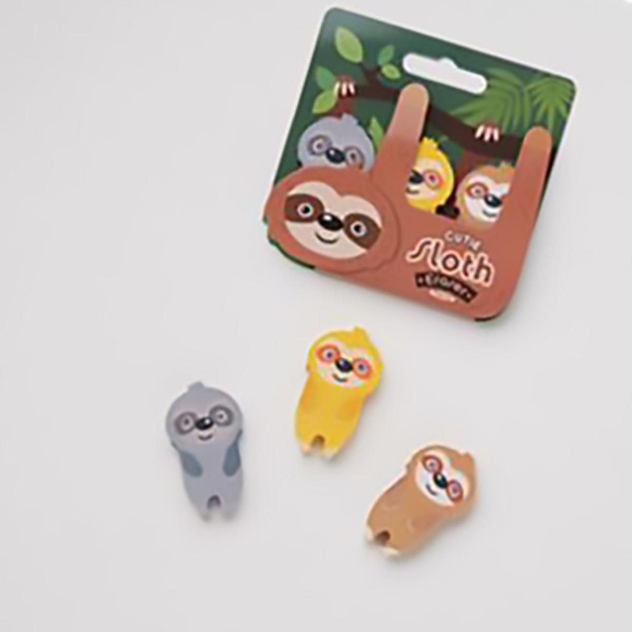 Sloth Eraser Gift Set