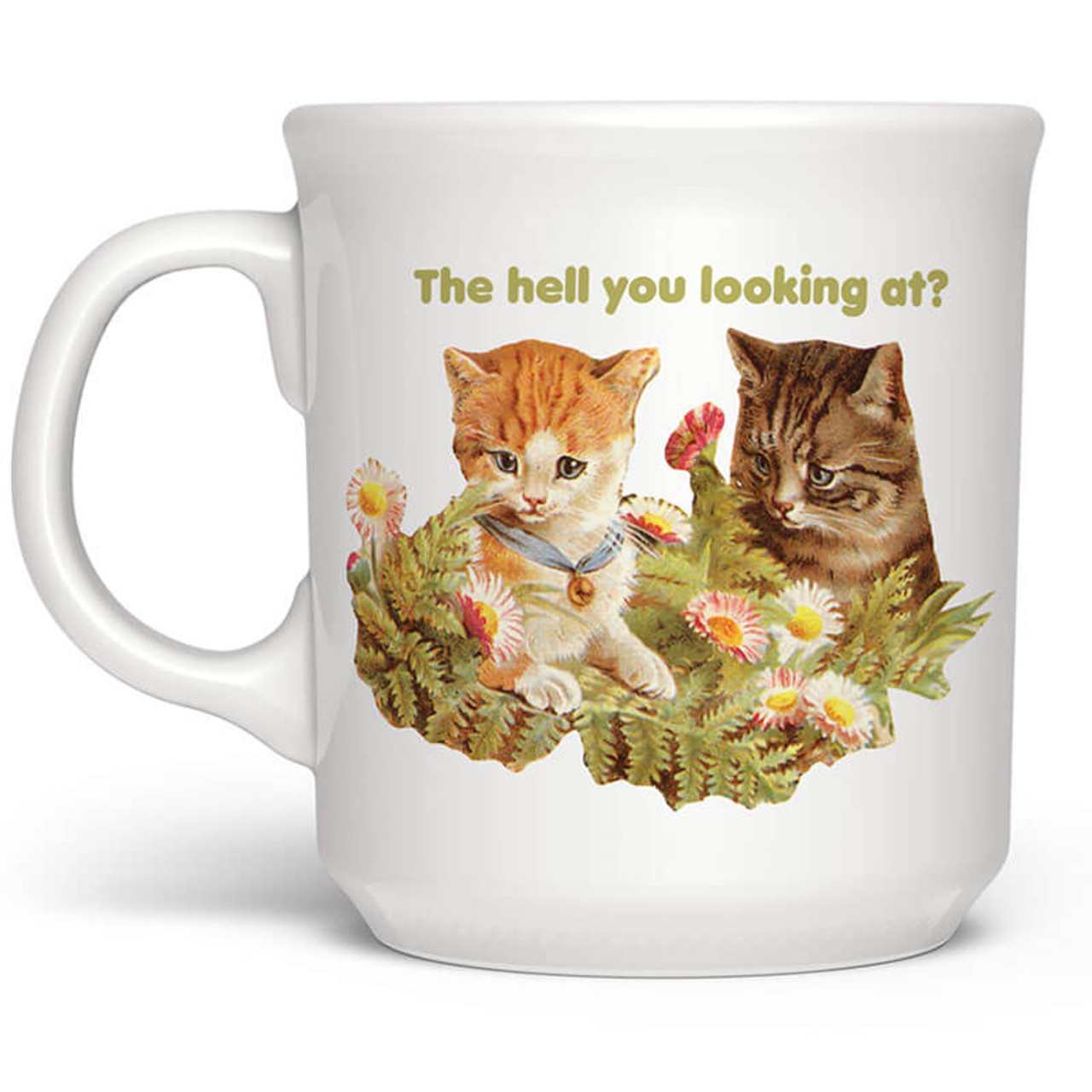 The Hell You Looking At Cat Mug