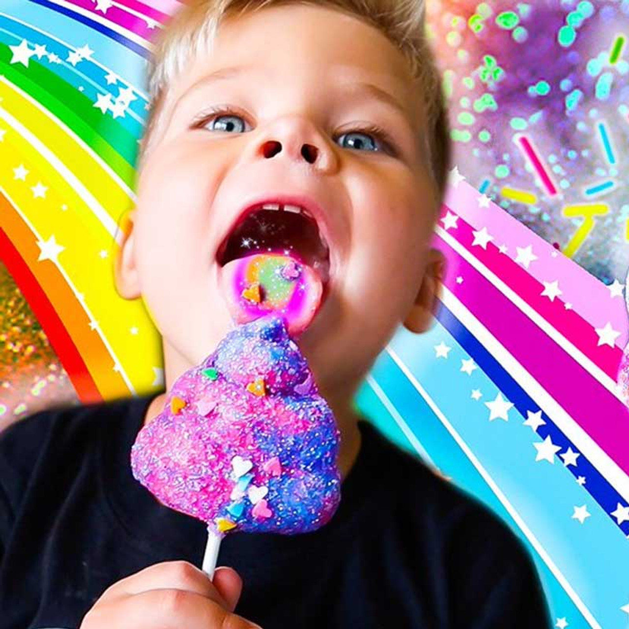 Unicorn Sparkle Poop Lollipop