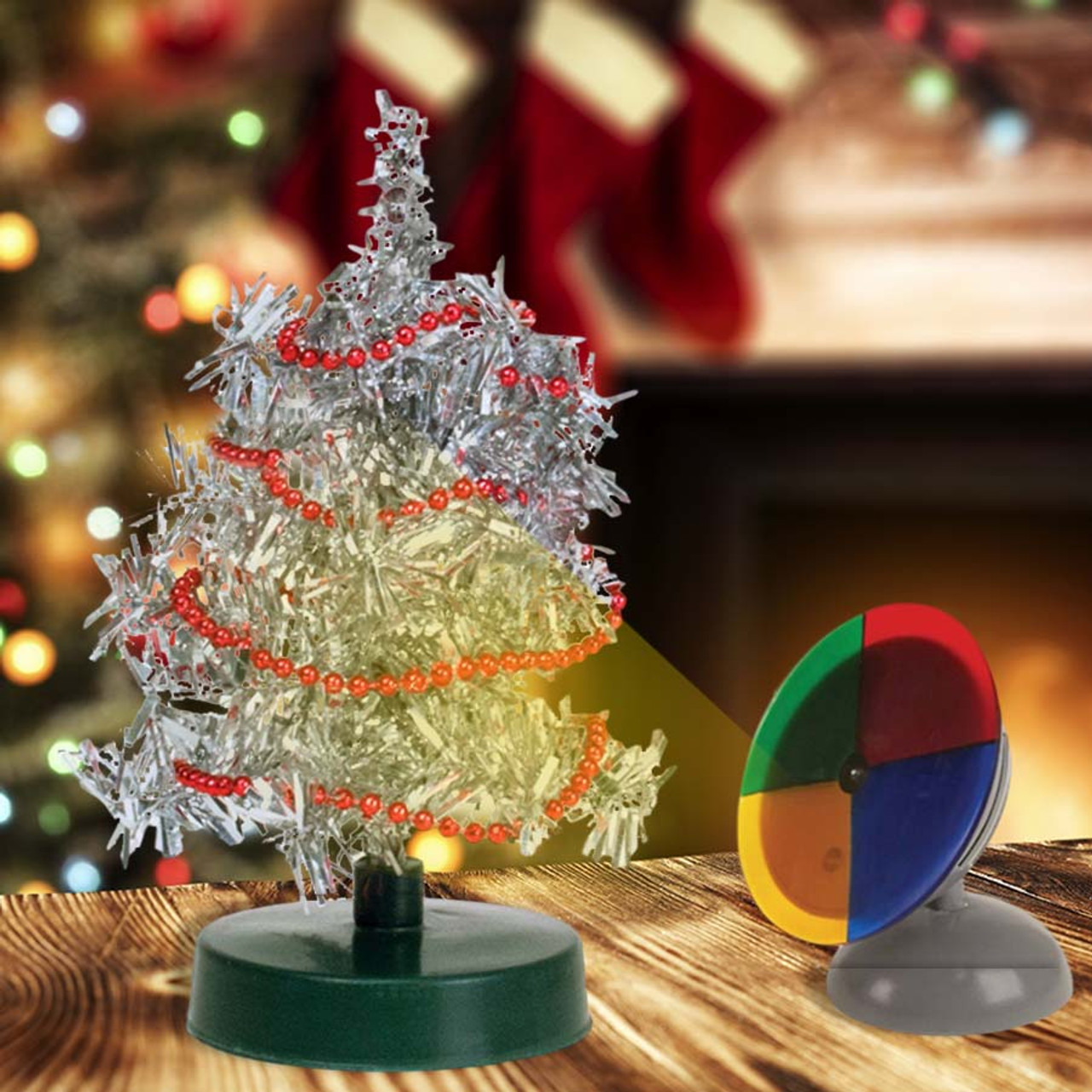 Teeny Tiny Retro Tinsel Tree Perpetual Kid Christmas Fun