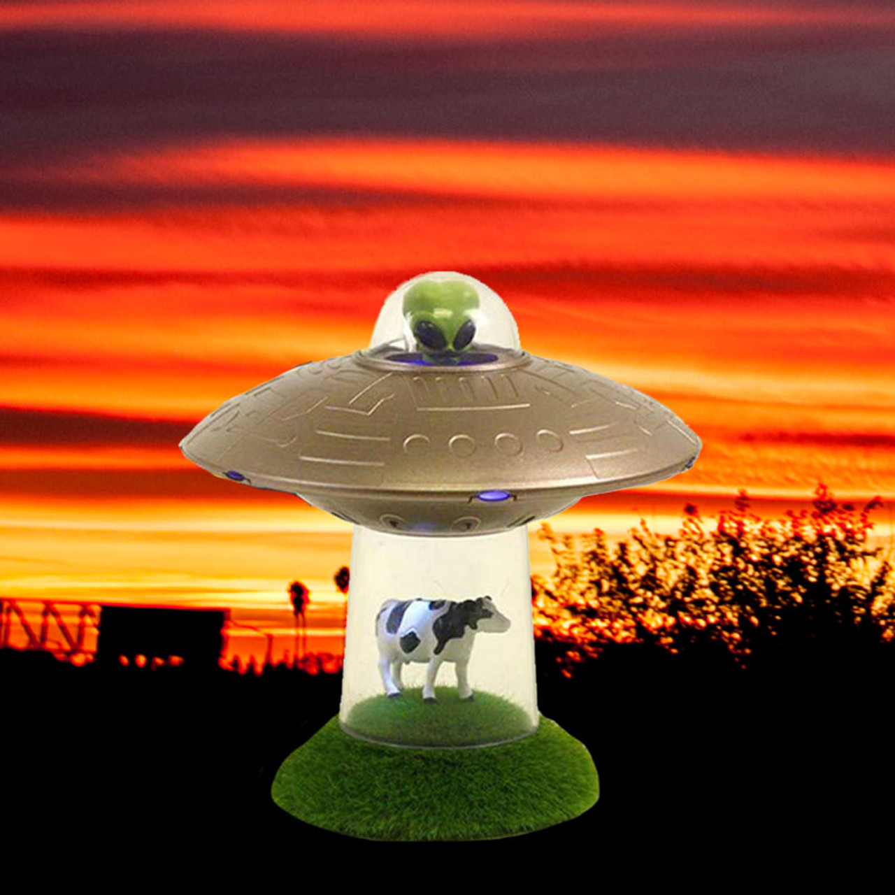 Cow Being Taken By UFO