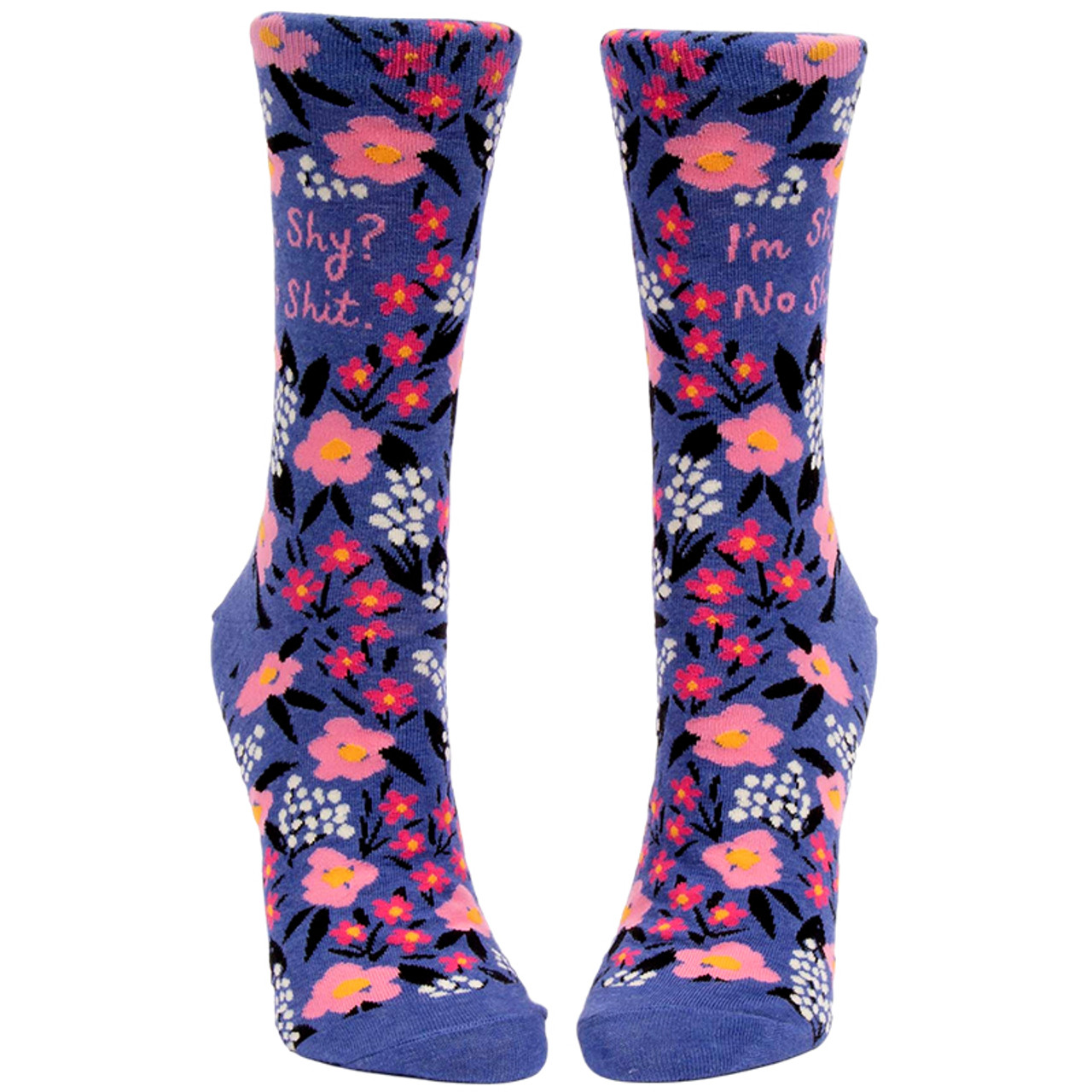 I'm Shy? No Shit Women's Crew Socks