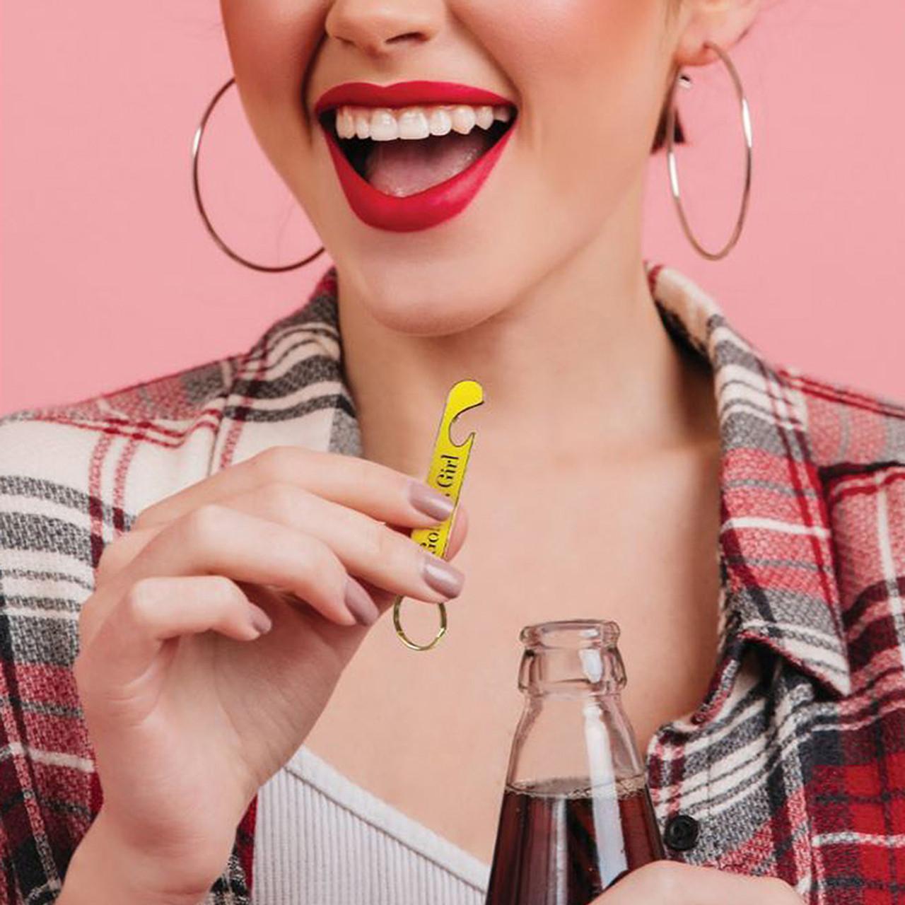 Golden Girl Bottle Opener Keychain