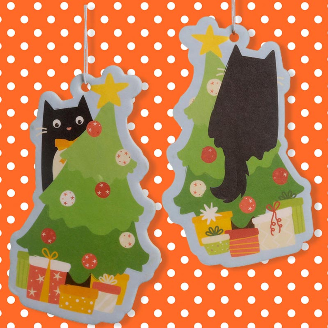 Festive Feline Christmas Tree Air Freshener