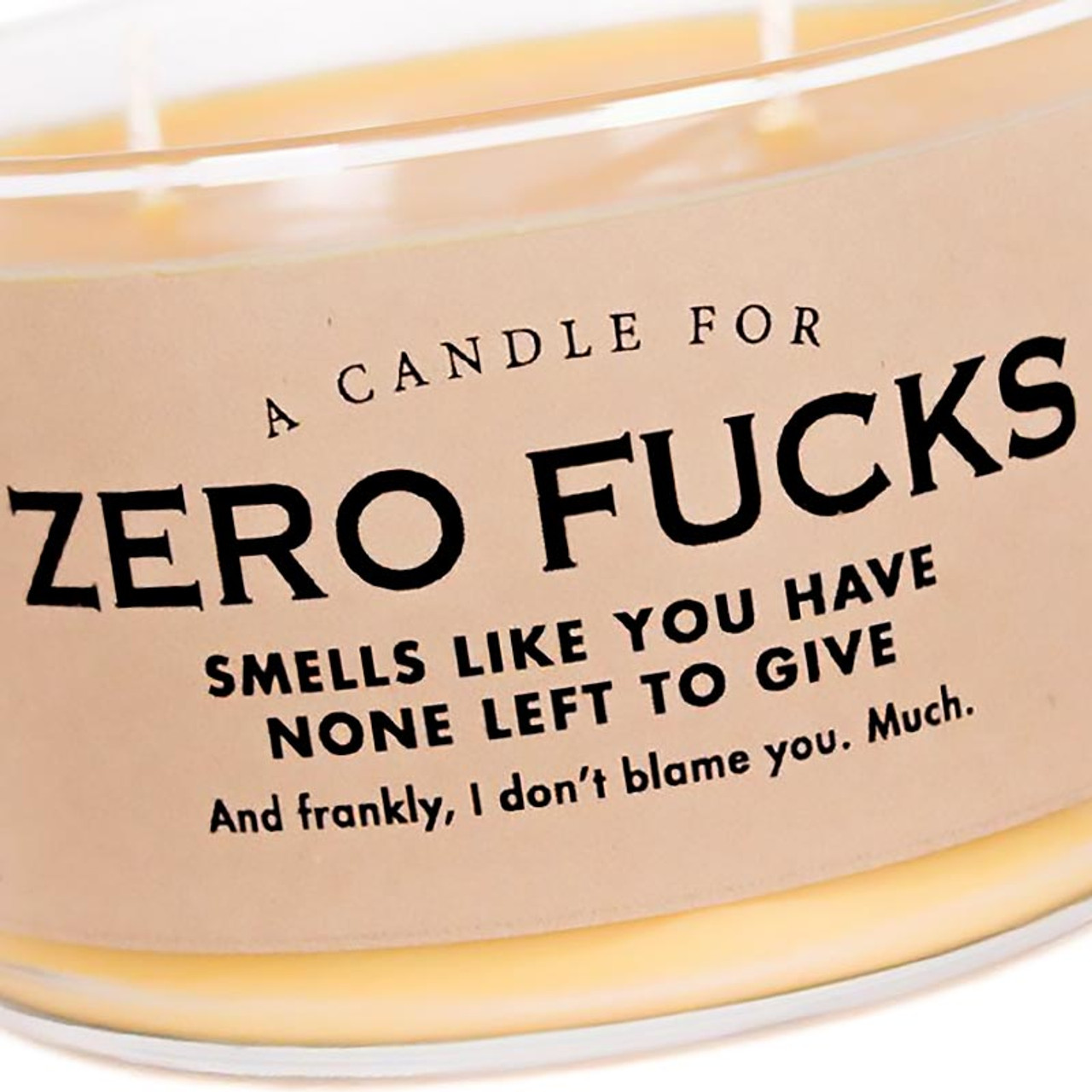 Zero Fucks Candle