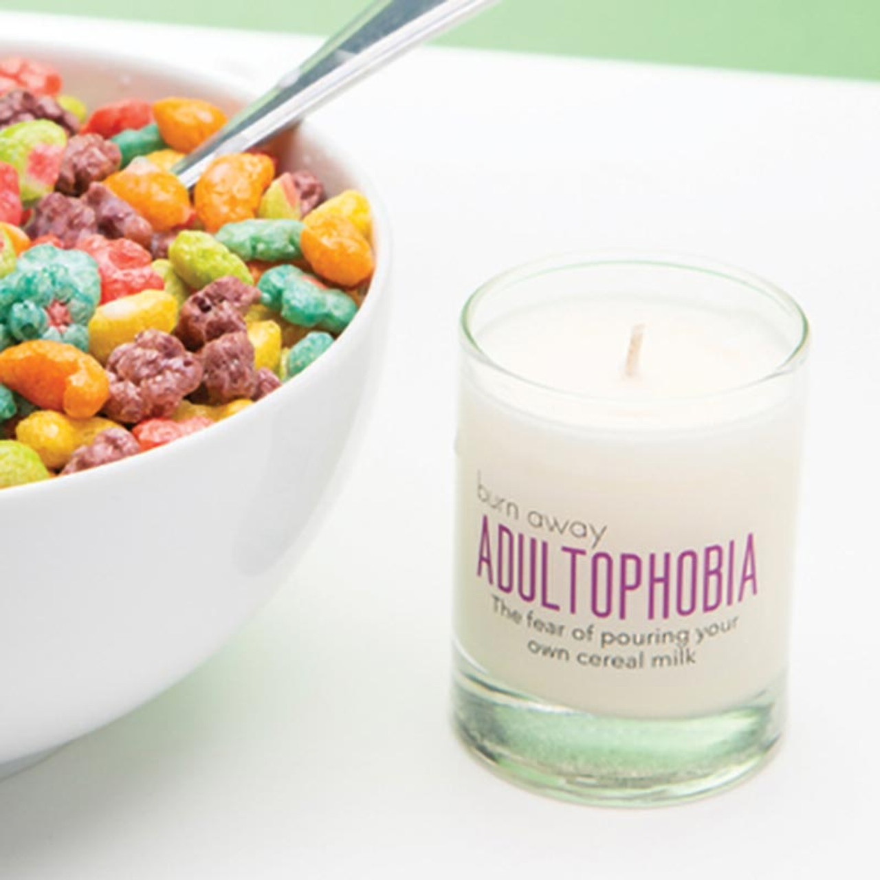 The fear of pouring your own cereal milk! Gift Candle