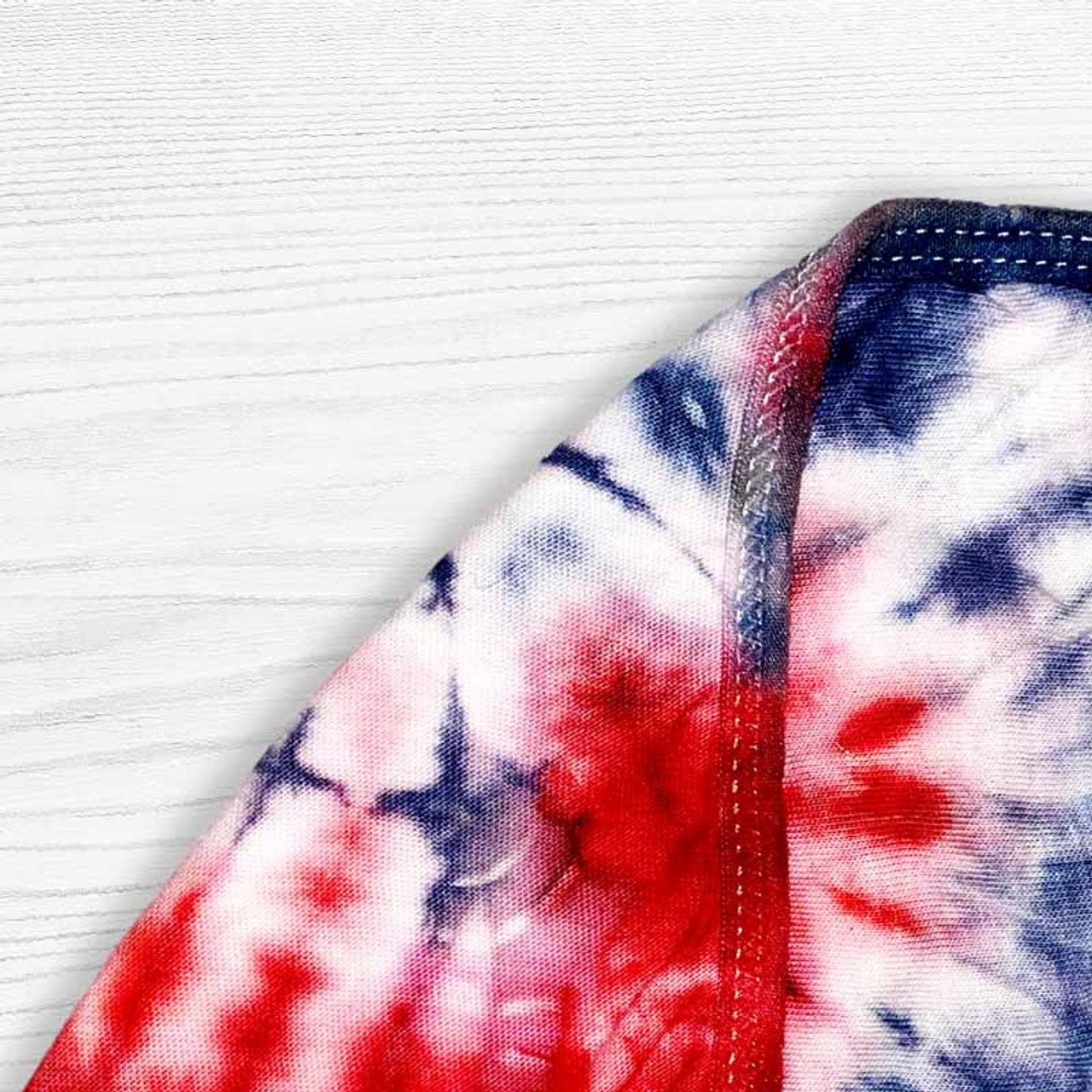 Tie Dyed Red, White, and Blue Face Mask for Patriots