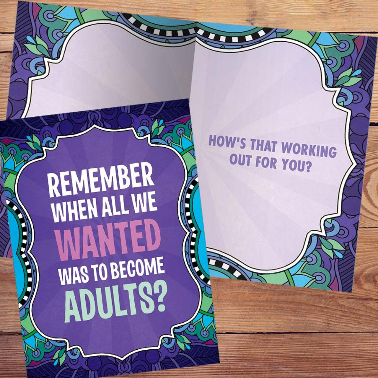Adulting Greeting Card