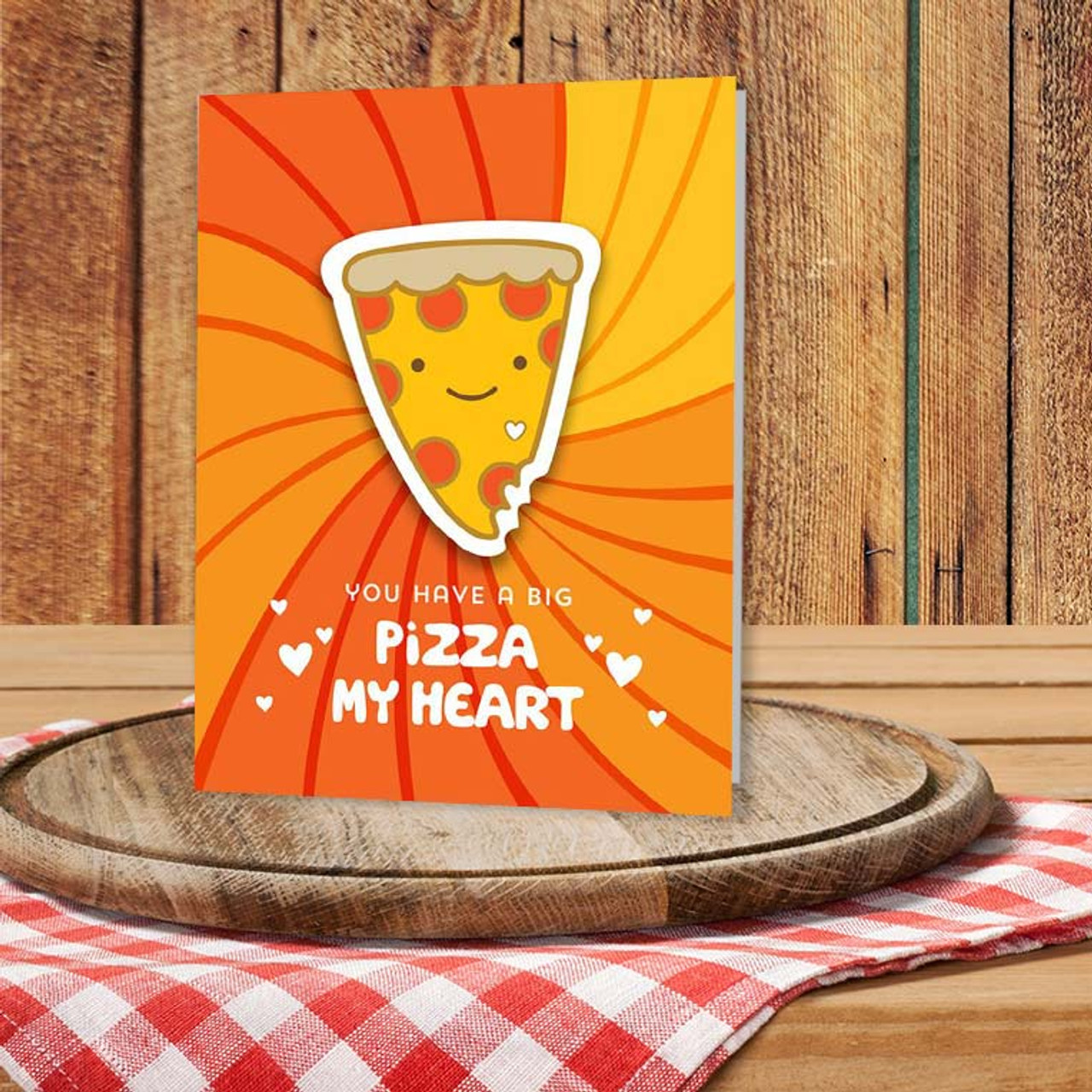 Cute Pizza Pun Greeting Card