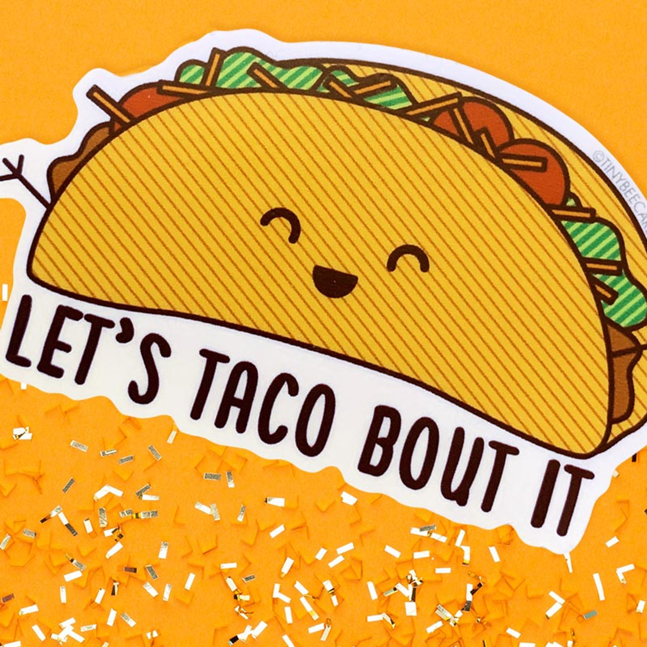 Taco Lovers - Let's Taco Bout It Sticker