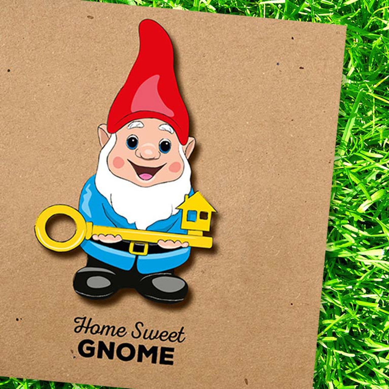 Gnome Greeting Card - Home Sweet Gnome by Tache