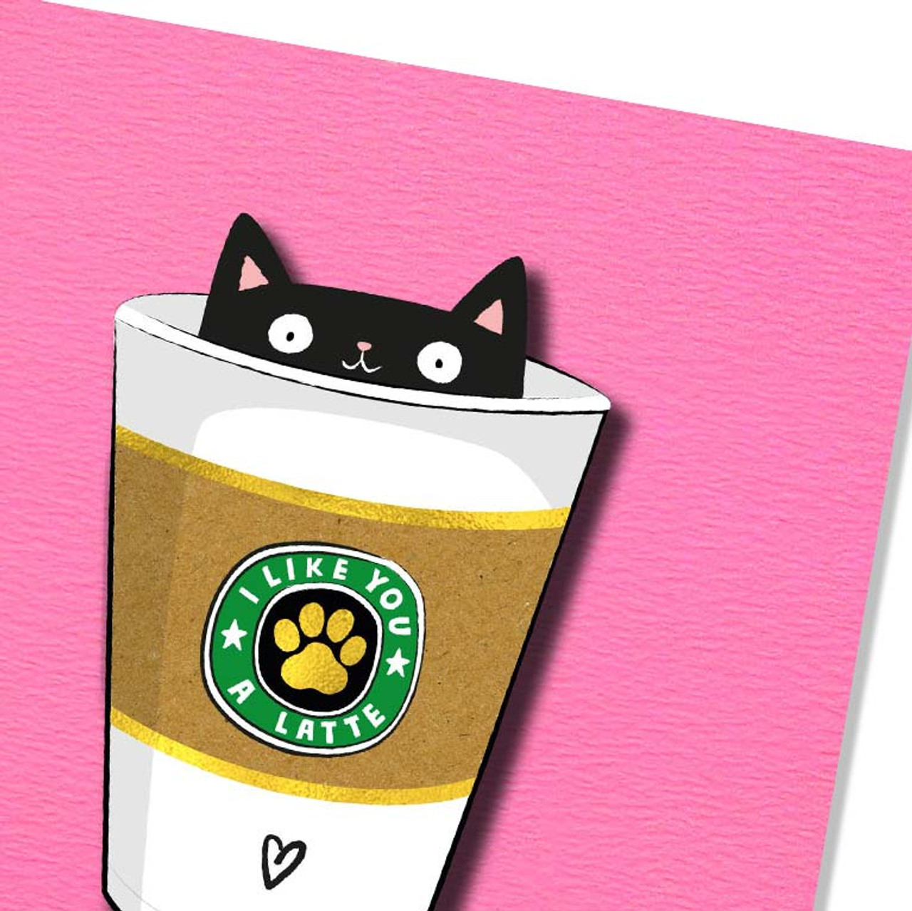Cats + Coffee Lovers Greeting Card | I Like You A Latte Greeting Card