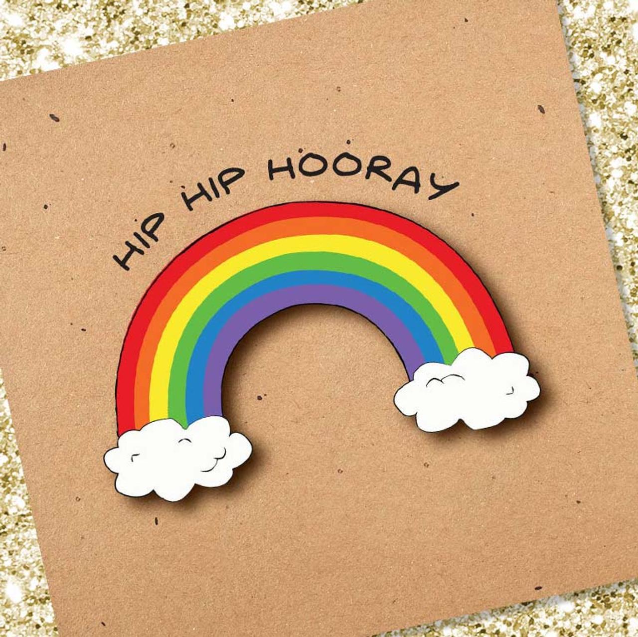 Rainbow Congratulations Card | Hip Hip Hooray