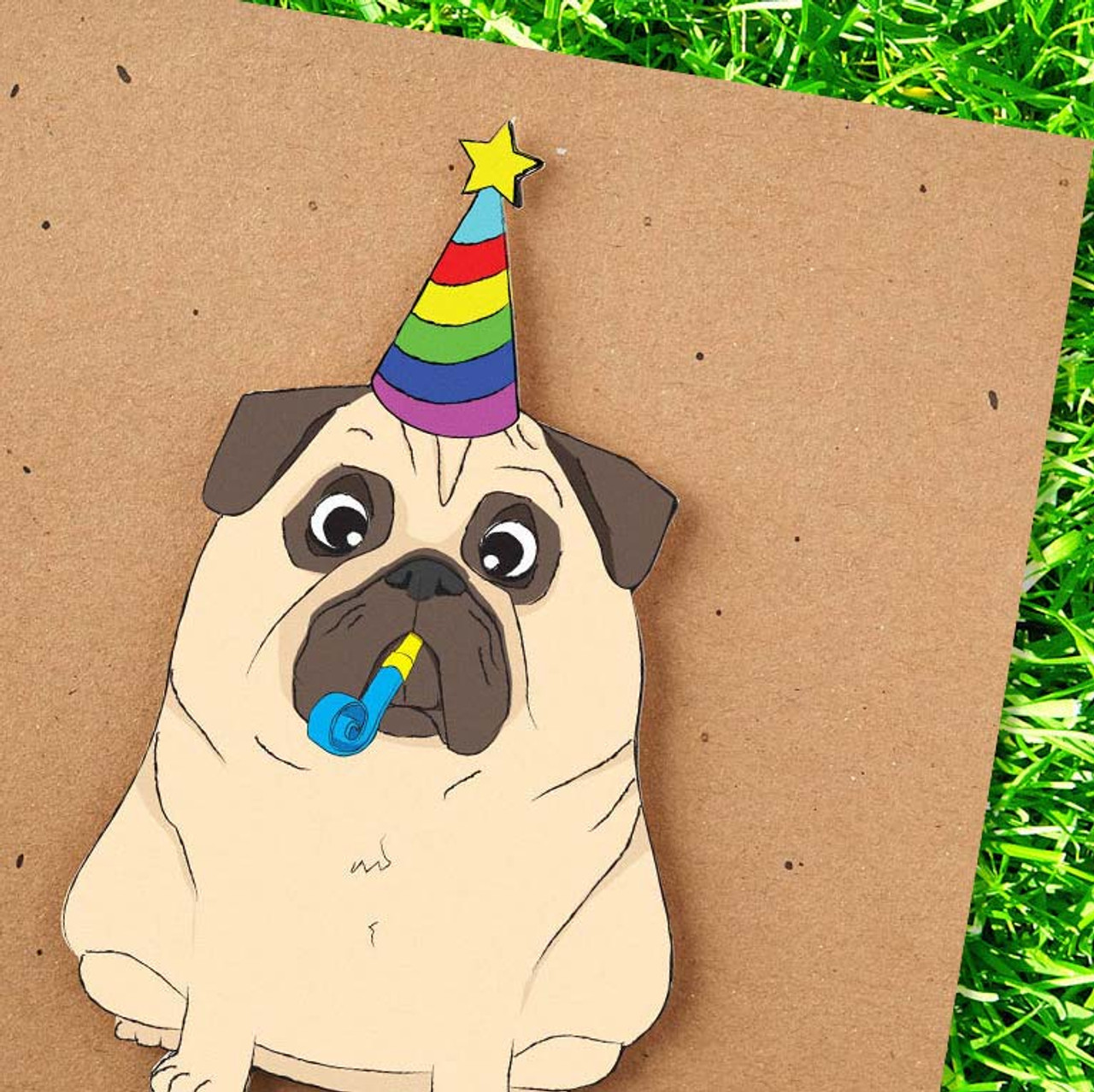 Party Dog Happy Birthday Card