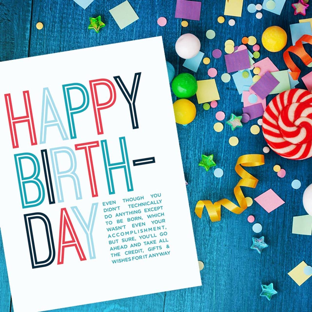 Happy Birthday Mooch Card - Sarcastic Birthday