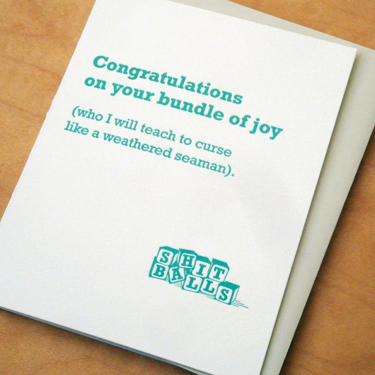 Congrats On Your Bundle Of Joy (Who I Will Teach To Swear) Card