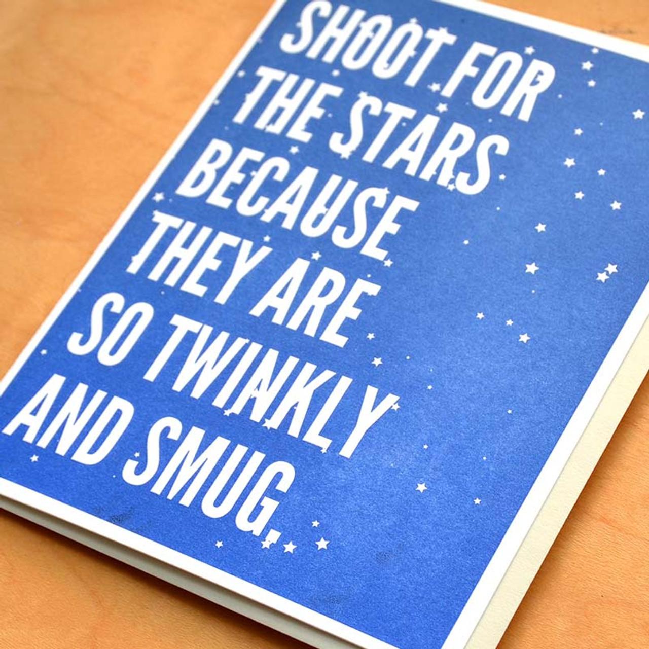 Twinkly + Smug Stars Greeting Card