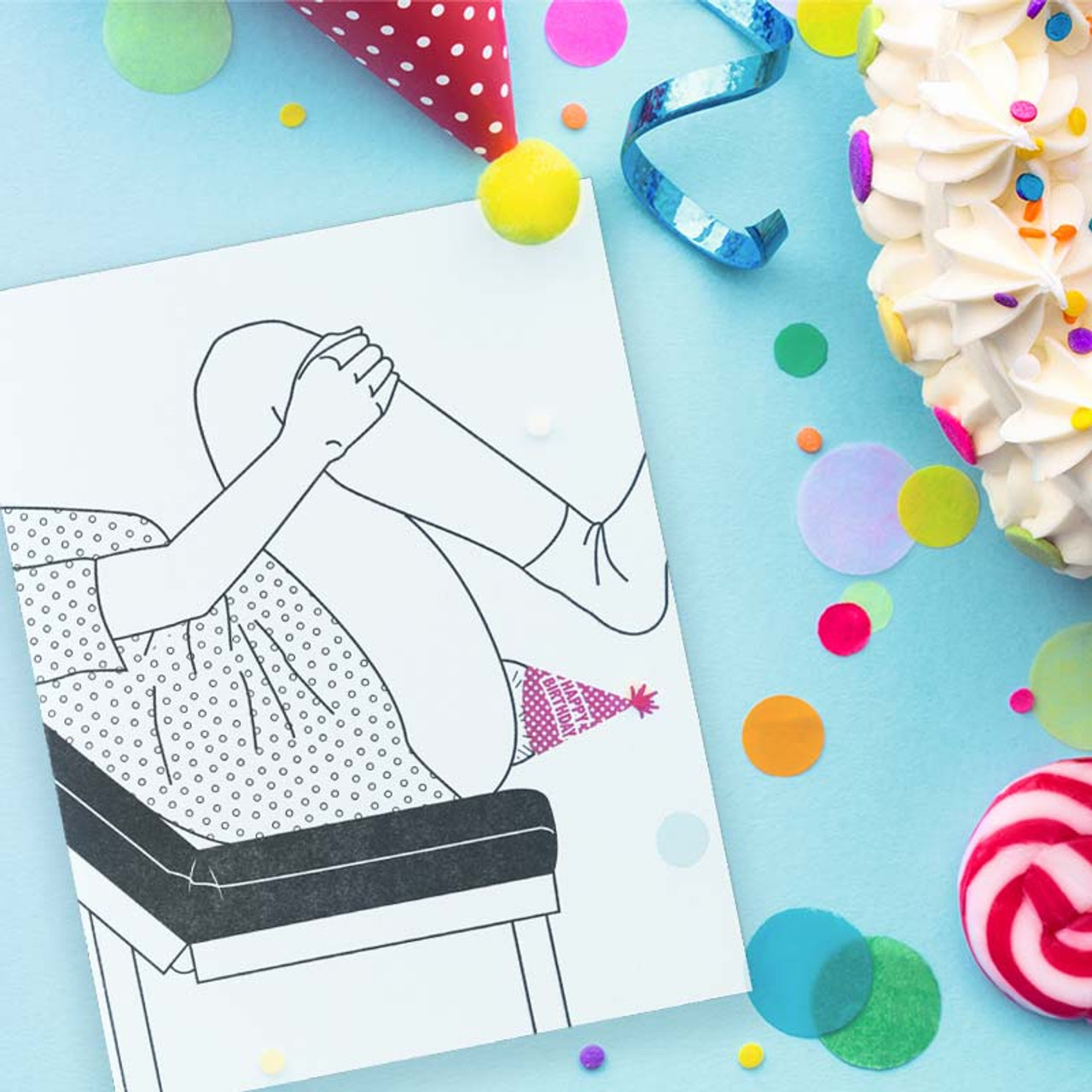 Party Hat Baby Anniversary Of Your Birth Birthday Card