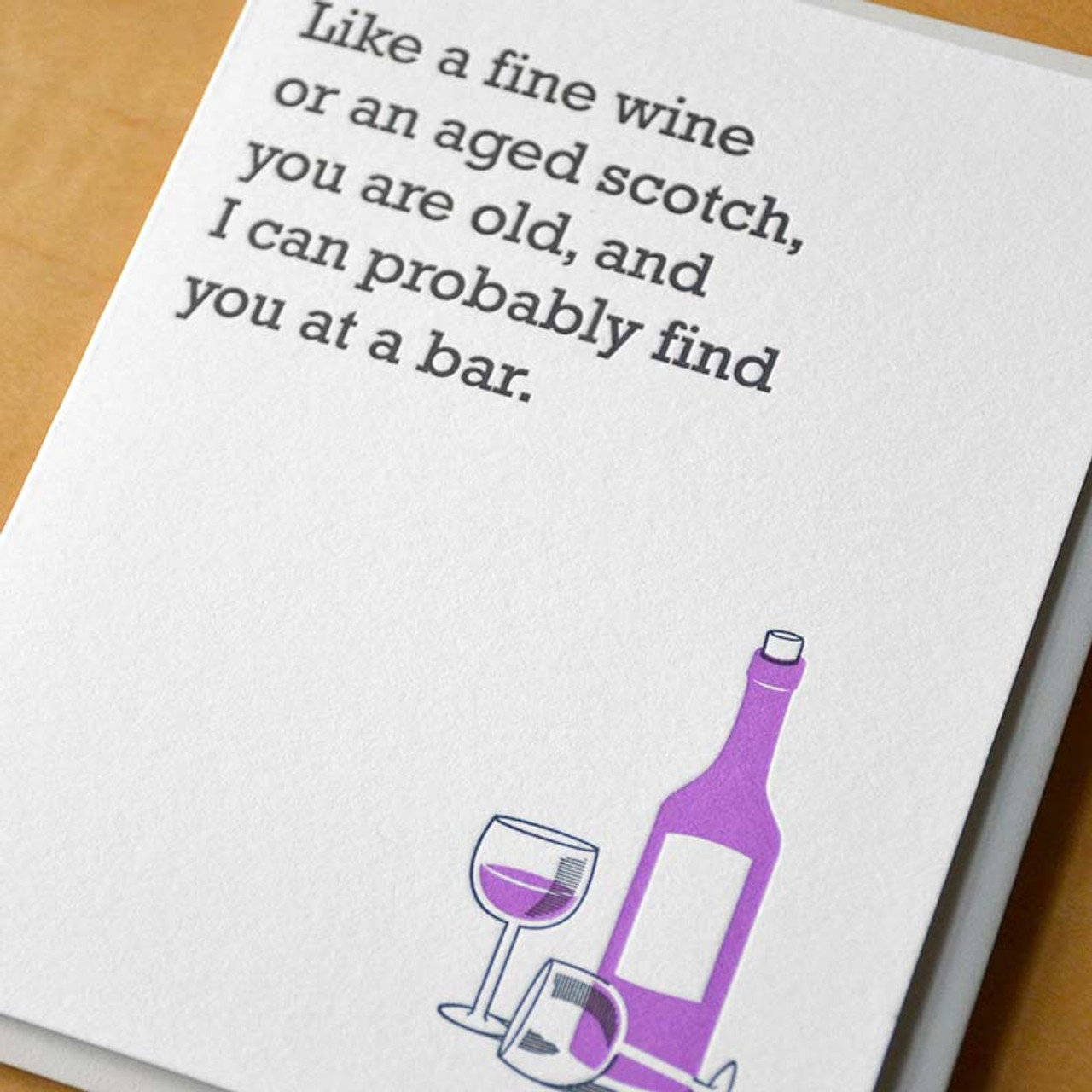 Wine drinker funny birthday card