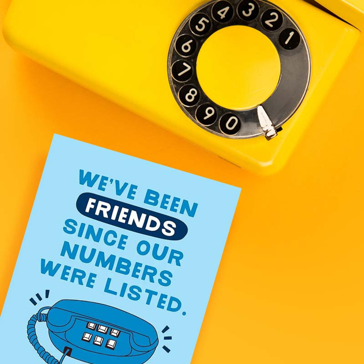 We've been friends forever greeting card.