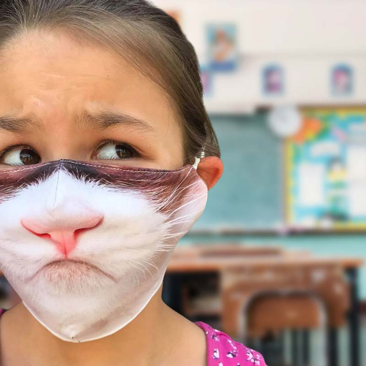 Funny Cat Face Mask for Kids and Adults
