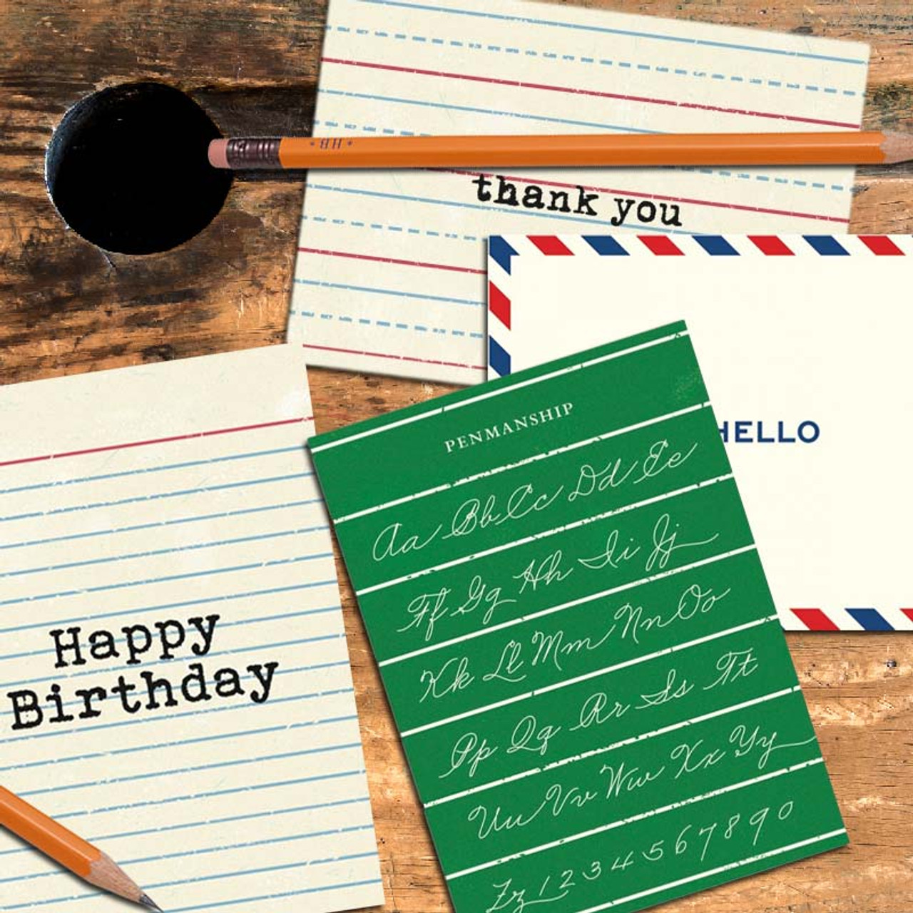 Greeting cards to give to teachers! Fun retro designs.