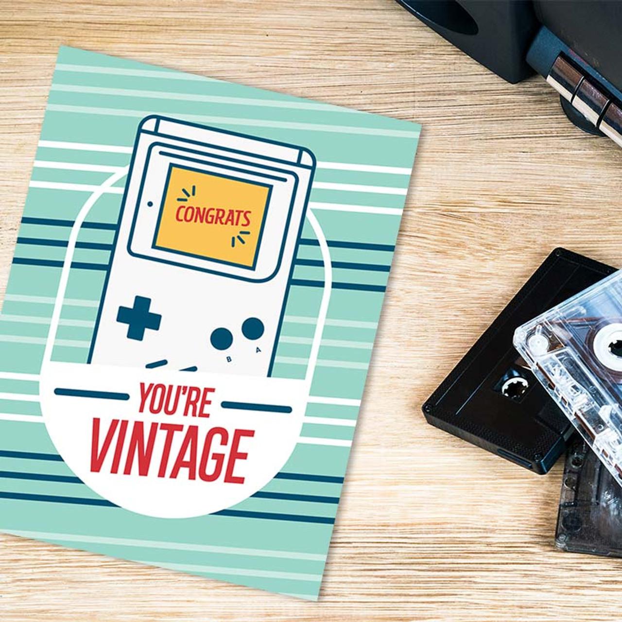 Birthday Card - Retro Video Game
