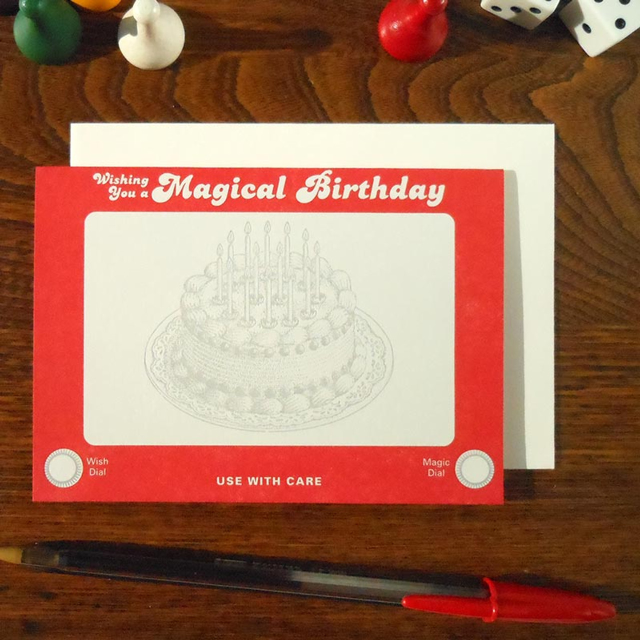 Retro Gift Card - Etch A Sketch Birthday Card